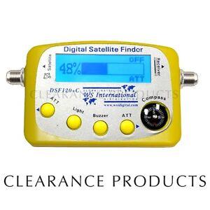 new digital satellite signal meter sat finder dsf120 c ebay. Black Bedroom Furniture Sets. Home Design Ideas