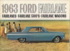 Ford Fairlane 1963 Canadian Market Sales Brochure Sedan 500 Hardtop Wagon Squire