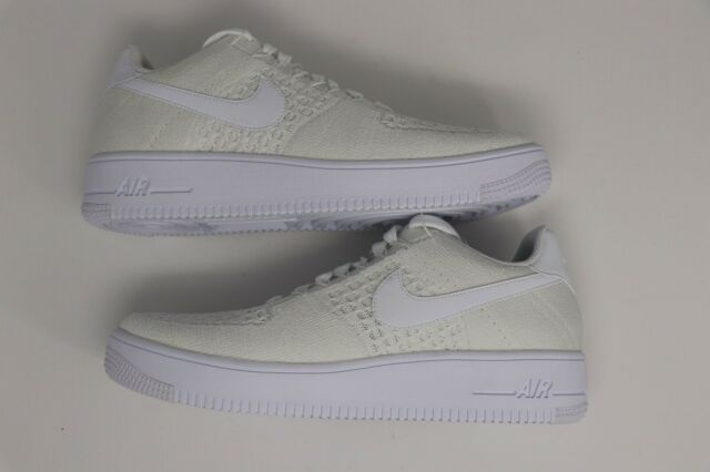 more photos 4848d 40e61 Nike Air Force 1 Af1 Ultra Flyknit Low Mens Size 9.5 Triple White 817419 101