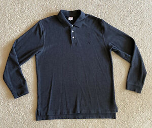 Brooks-Brothers-346-Long-Sleeve-Polo-Shirt-Men-s-L-Original-Fit-Dark-Gray