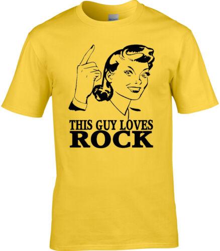 Rock Mens T-Shirt Music Rocker Rock and Roll Funny Birthday Gift Metal Soul Play