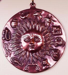 Image Is Loading HINDU GOD SUN SURYA HOROSCOPE SIGN COPPER METAL