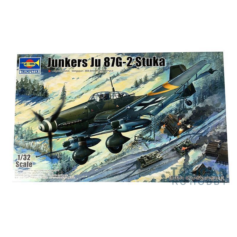 German Ju87G-2 Stuka Bomber  03218 Model Kit Aircraft Trumpeter 1 32 Battleplane