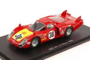 Alfa Romeo 33/2 n ° 38 5ème 1968 1968 C. Facetti / S. Dini 1:43 Modèle Spark