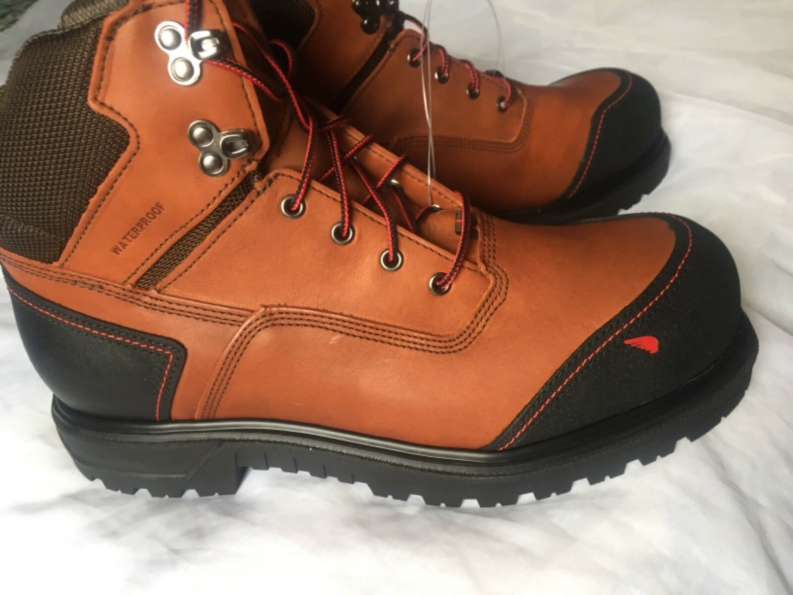 Red Wing 2403 Men Safety Brown 6-inch Boots Aluminium Toe USA MADE size 10  EE