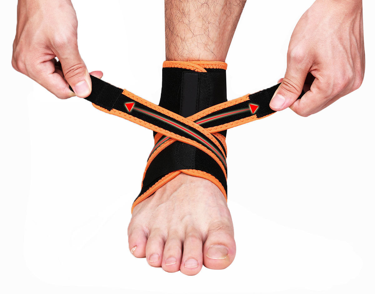 Ankle Brace Ankle Support Socking Compression Sport Injury Protective Guard US D 10