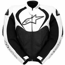 Alpinestars Jaws Black/White Leather Motorcycle Jacket 52**Now Only £265.00***