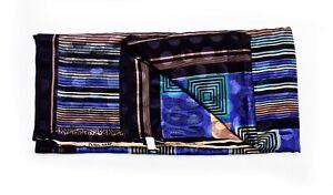 Vintage-Indian-Saree-100-Pure-Crepe-Silk-Printed-Soft-Dress-Sari-Fabric-Multi