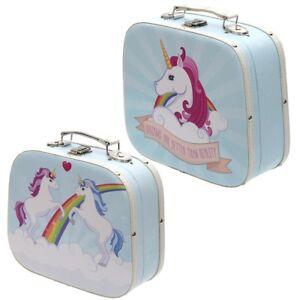 2er set abgerundeter koffer einhorn unicorn reise urlaub kind kinder regenbogen ebay. Black Bedroom Furniture Sets. Home Design Ideas