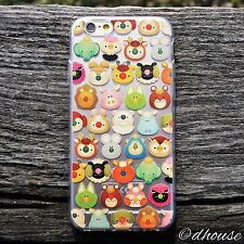 MADE IN JAPAN Soft Clear TPU Case mofpof cute animals for iPhone 6 & iPhone 6s