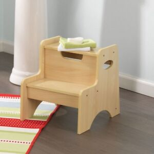 Enjoyable Details About Kidkraft 15511 Kids Childrens Wooden Two Step Up Stool Natural New Gmtry Best Dining Table And Chair Ideas Images Gmtryco