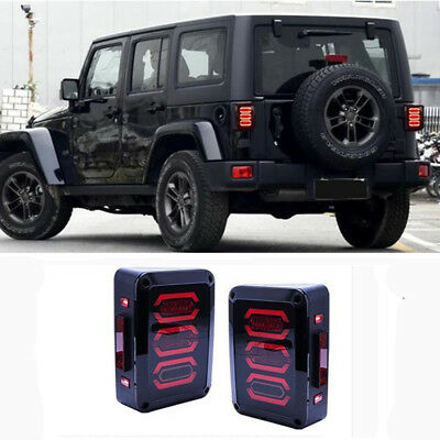 Jeep Wrangler Accessories 2017 >> For Jeep Wrangler Jk 2007 2017 Led Rear Lamps Tail Lights Accessories Ebay