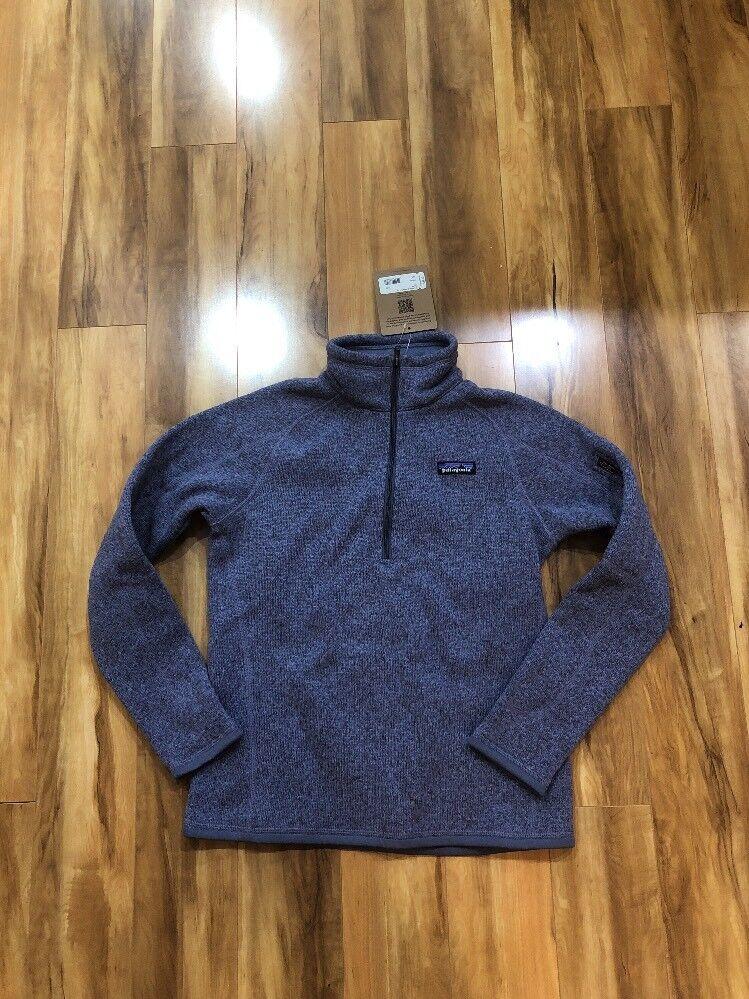 NWT Patagonia Women's Better Sweater 1 4-Zip Fleece Lupine Small