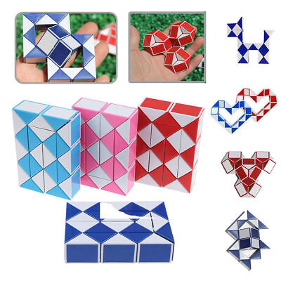 COLOURED PUZZLE SNAKE PARTY BAG TOY 3D MAGIC CUBE TWIST NOVELTY GIFT N