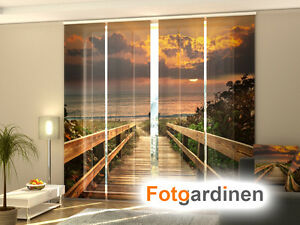 fotogardinen strand schiebevorhang schiebegardinen 3d fotodruck ma anfertigung ebay. Black Bedroom Furniture Sets. Home Design Ideas