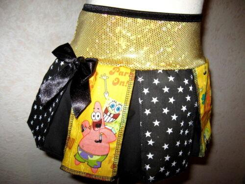 NEW Green Black Yellow White Sponge Bob Stars Spots Sparkly Skirt Party Gift