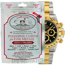 *NEW* CAPE COD FINE METAL POLISHING CLOTH FOR ROLEX WATCHES  - PACK OF 2