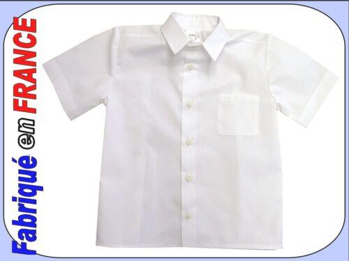 Chemisette été blanche de 3 ans à 10 ans Neuve Marque Ghimi