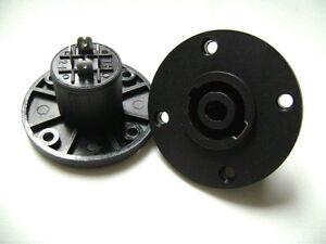 (2) Deux Plastique Femelle Nl4mpr Speakon Connecteurs-ronde De La Configuration.-afficher Le Titre D'origine