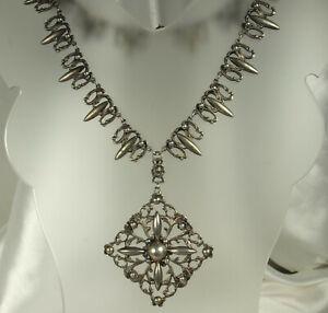 ART-DECO-Era-PERUZZI-Necklace-17-034-800-Silver-FLORENCE-Italy-57-3g-SIGNED-Fine