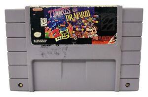 Tetris-amp-Dr-Mario-Super-Nintendo-Entertainment-System-1994-SNES-NOT-TESTED