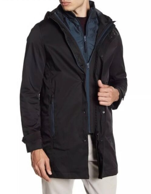 8ca1f9b6e Ted Baker Mens Stack Hooded Mac Jacket Black 3 m Regular for sale ...
