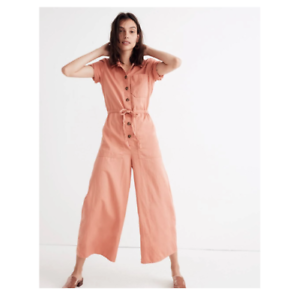 491fee07415 BNWT NEW Madewell Wide Leg Utility Jumpsuit Coveralls Overalls shop ...