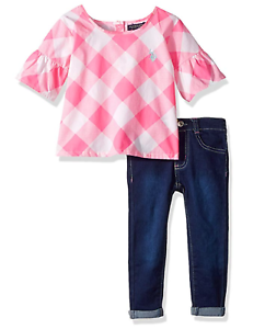 U.S. Polo Assn. Girls' Fashion Top and Pant Set
