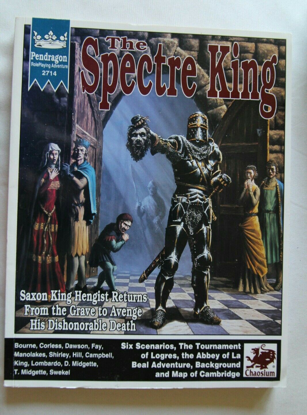 The Spectre king Pendragon chaosium arthurian arthir RPG rpgs roleplaying book