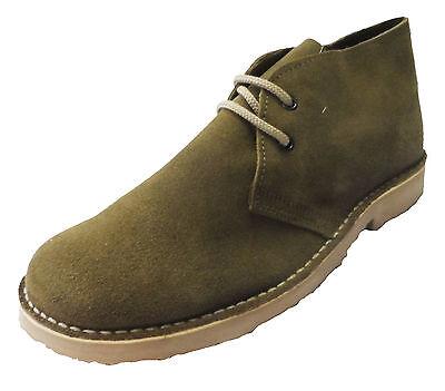 Kaki Retro Años 70 Mod Real Estilo Gamuza Desert Boots