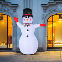 Inflatable Christmas Snowman 8ft Holiday Air Blown Yard 8 Led Decoration
