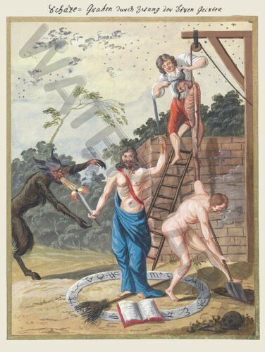 DEMONS MAGIC 1775 HANGING PRINT ONLY ART POSTER HP3700