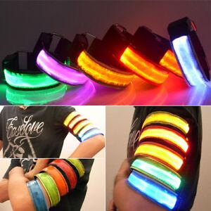 LED-Light-Safety-Reflective-Belt-Strap-Snap-Arm-Band-Sports-Running-Armband-Cool