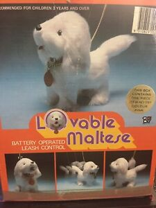 Lovable-Maltese-Battery-Operated-Leash-Control-Sing-Yip-Toys