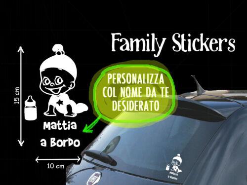 STICKER STICKERS BEBE/' BIMBO 1 BORDO ON BOARD MY FAMILY ADESIVO PERSONALIZZATA