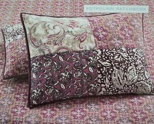 60-Martha-Stewart-Potpourri-Patchwork-Purple-Quilted-Standard-Pillow-Sham