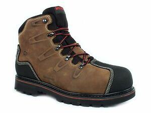 c938c59dd0d Details about Wolverine HACKSAW Steel Toe EH Waterproof Mens Work Safety  Brown Leather Boot