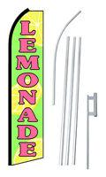Complete 15' Lemonade Kit Swooper Feather Flutter Banner Sign Flag