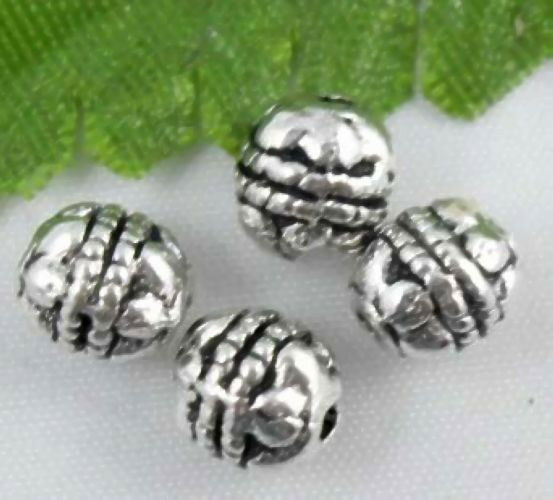 Free Ship 260Pcs Tibetan Silver Crafted Motif Spacer Beads 6mm