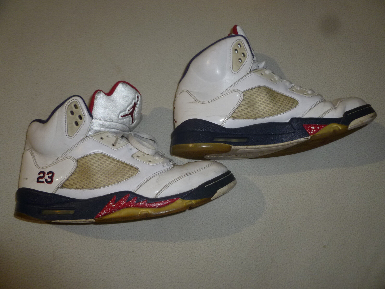 Nike air jordan 5 / vintage retrò olympic il giorno dell'indipendenza 136027-103 46 23