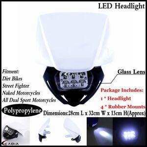 Offroad-Dirt-Bike-LED-Headlight-Lamp-Fairing-For-Yamaha-XT125-XT350-WR450-YZ250