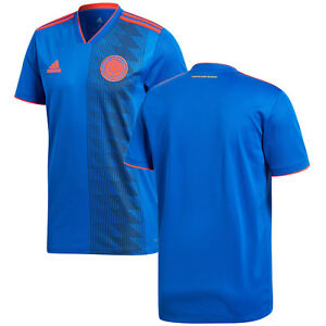 ff8f5728547 adidas Colombia FIFA WC World Cup 2018 Away Soccer Jersey Blue Kids ...