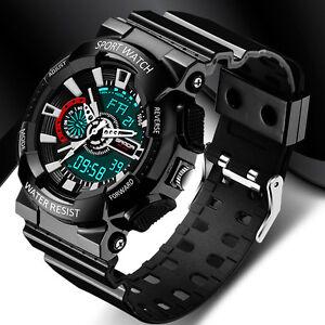 Mens-Digital-Watch-Big-Face-LED-Chronograph-Alarm-Sport-Waterproof-Watches
