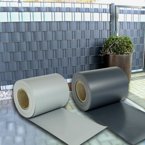 PVC Sichtschutz Streifen Doppelstabmatten Zaun Folie Plane Windschutz