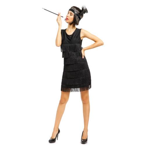 Ladies Jazzy Flapper Costume Charlston 20s 30s Fancy Dress Cocktail Dance Dress