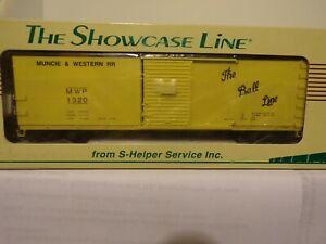 SHOWCASE-LINE-S-HELPER-S-GAUGE-00353-Steel-Rebuilt-Xm-Ball-Lines-1-Boxcar