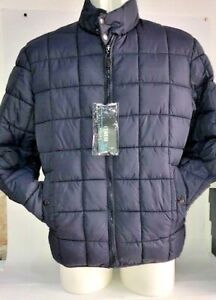 Coveri-Jacket-Mens-Quilted-Jacket-Fabric-Size-XXL-Blue