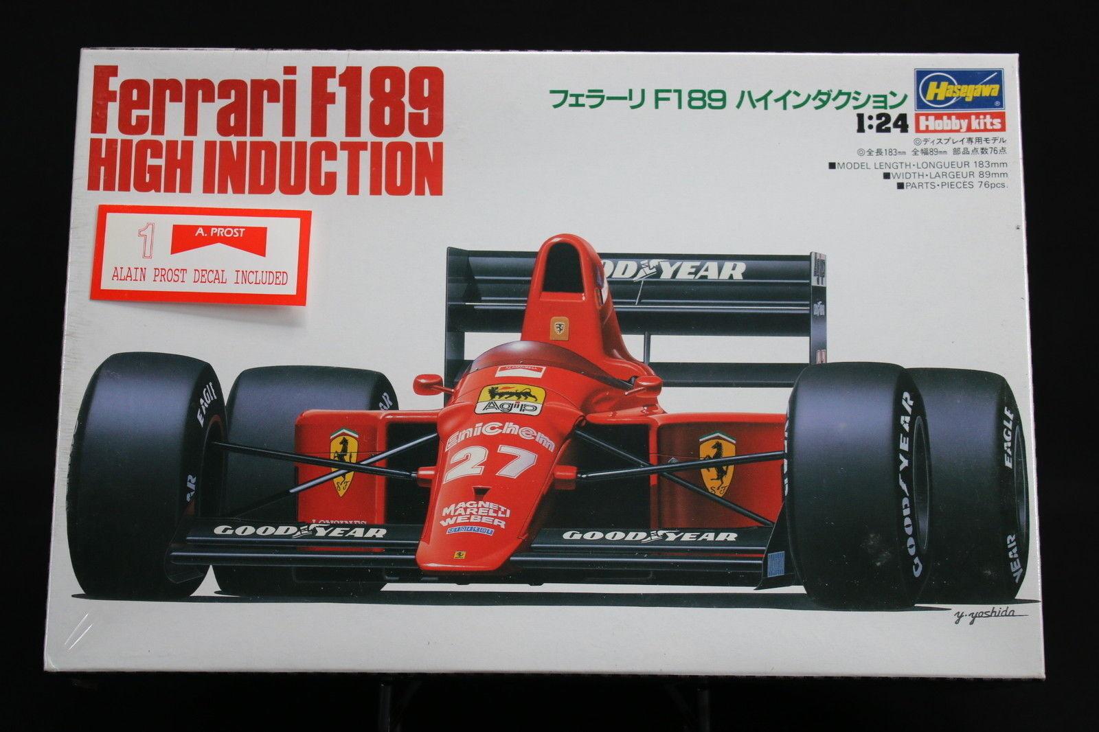 la mejor oferta de tienda online XO012 XO012 XO012 HASEGAWA 1 24 maquette voiture 23006 Ferrari F189 High Induction A Prost  mejor vendido