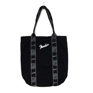 Tote Nin Fabriqué Japon Fender Au Takahiro Noir Coton Nombre Uni Bag Logo 3jR4L5Aq