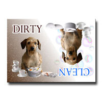 DACHSHUND Clean Dirty DISHWASHER MAGNET No 3 WIRED